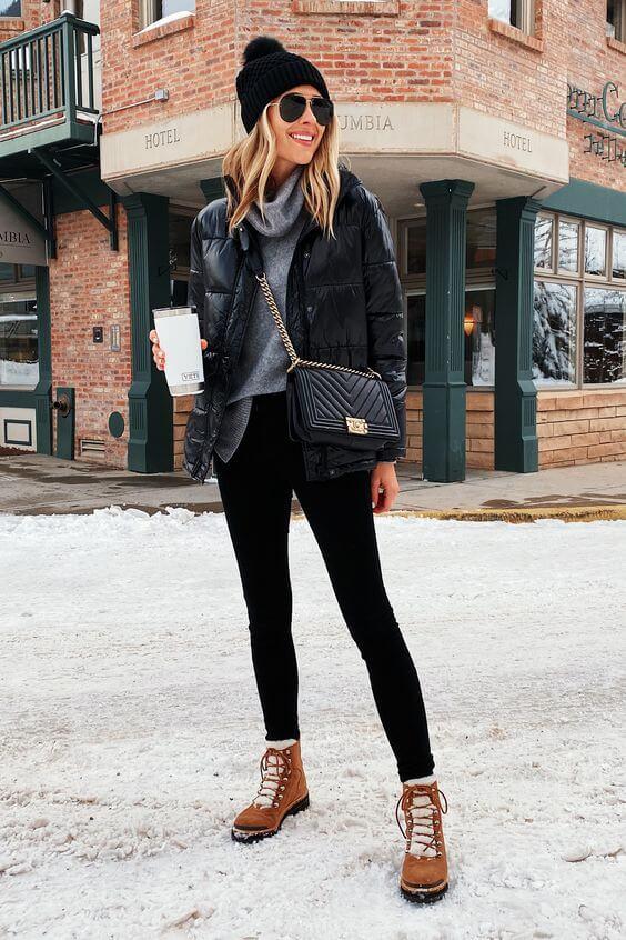 jacheta neagra lucioasa femei