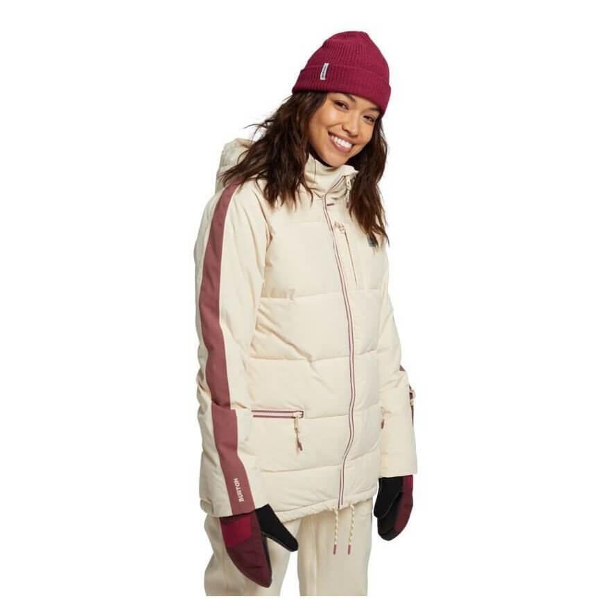 geaca snowboard femei Burton Keelan Jacket Creme Brulee_bej