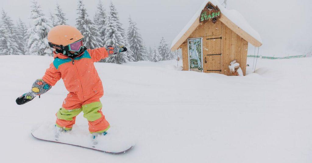Echipament de snowboard pentru copii