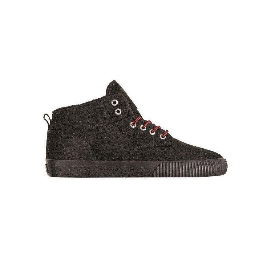 Shoes Globe Motley Mid - Black Red Fur