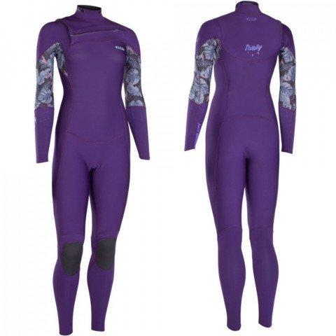 Costum neopren Ion Trinity Amp Semidry 4/3 FZ DL - Dark Purple