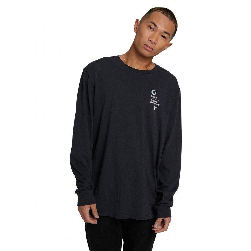 Tricou Barbati Burton Custom LS - True Black
