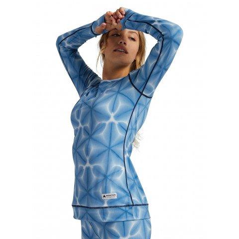 First Layer Bluza Dama Burton Midweight - Blue Dailola Shibori