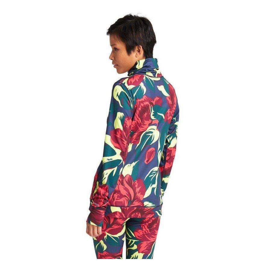 First Layer Bluza Dama Burton Midweight Long Neck - Hibiscus Pink Floral