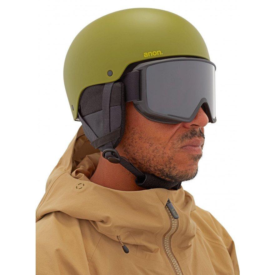 Casca Snowboard Anon Raider 3 Mips - Green