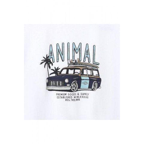 Tricou Barbati Animal Trip - White