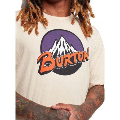Tricou Unisex Burton Retro Mountain - Creme Brulee