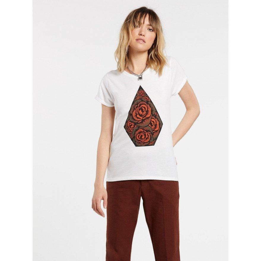 Tricou Dama Volcom Radical Daze - Stout White