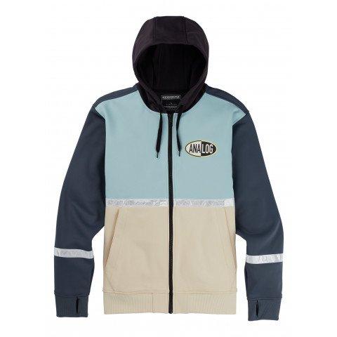 Hanorac Termal Analog Weatherproof Zip Fleece - Ether Blue Multi