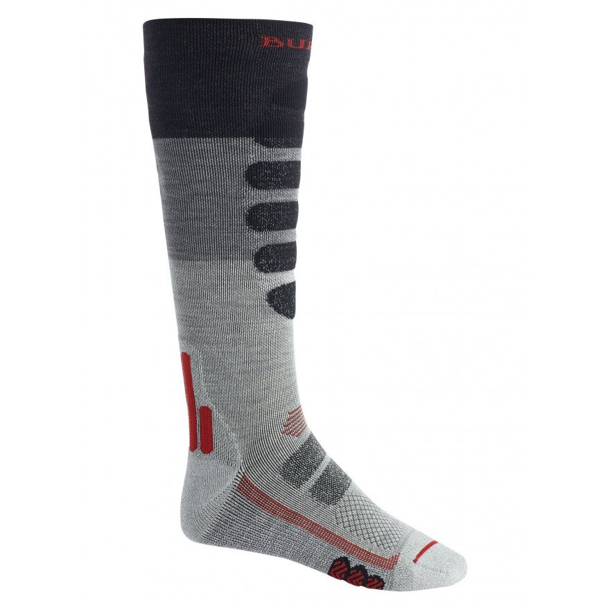 Sosete Snowboard Burton Performance Plus Lightweight Compression - Gray Heather Block