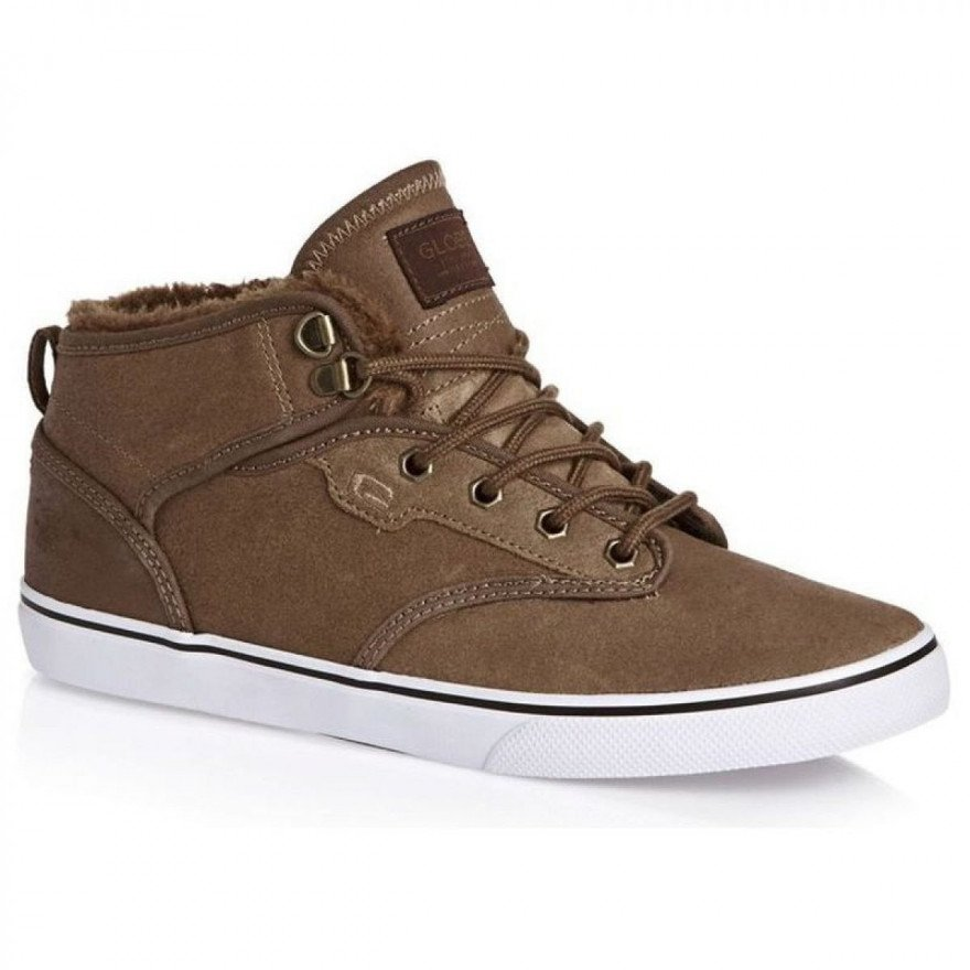 Shoes Globe Motley Mid - Distressed Brown Fur