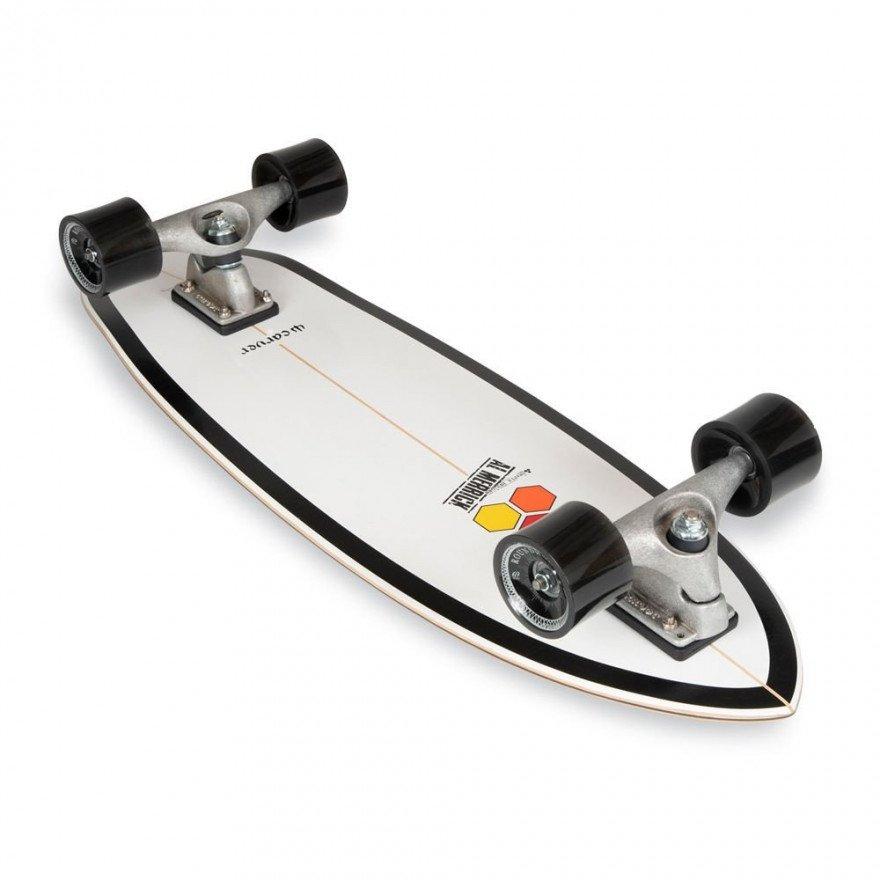 "Cruiser Carver Skateboards CI Black Beauty CX Raw 31.75"""