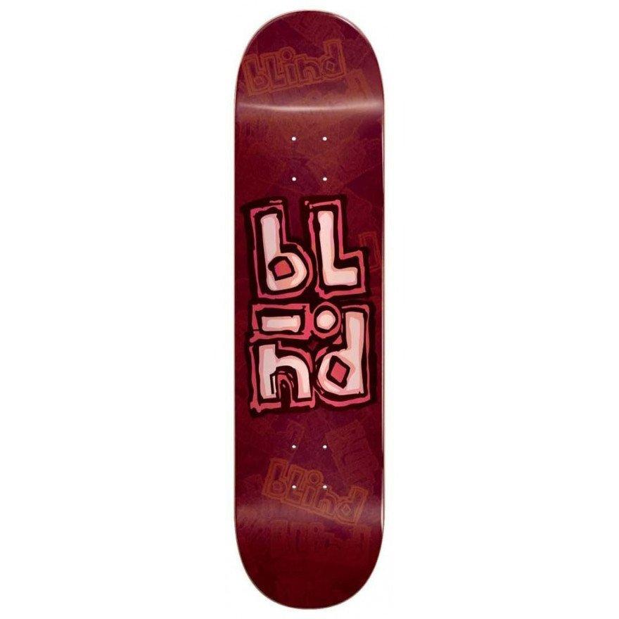 Placa Skateboard Blind OG Stacked Stamp - Red