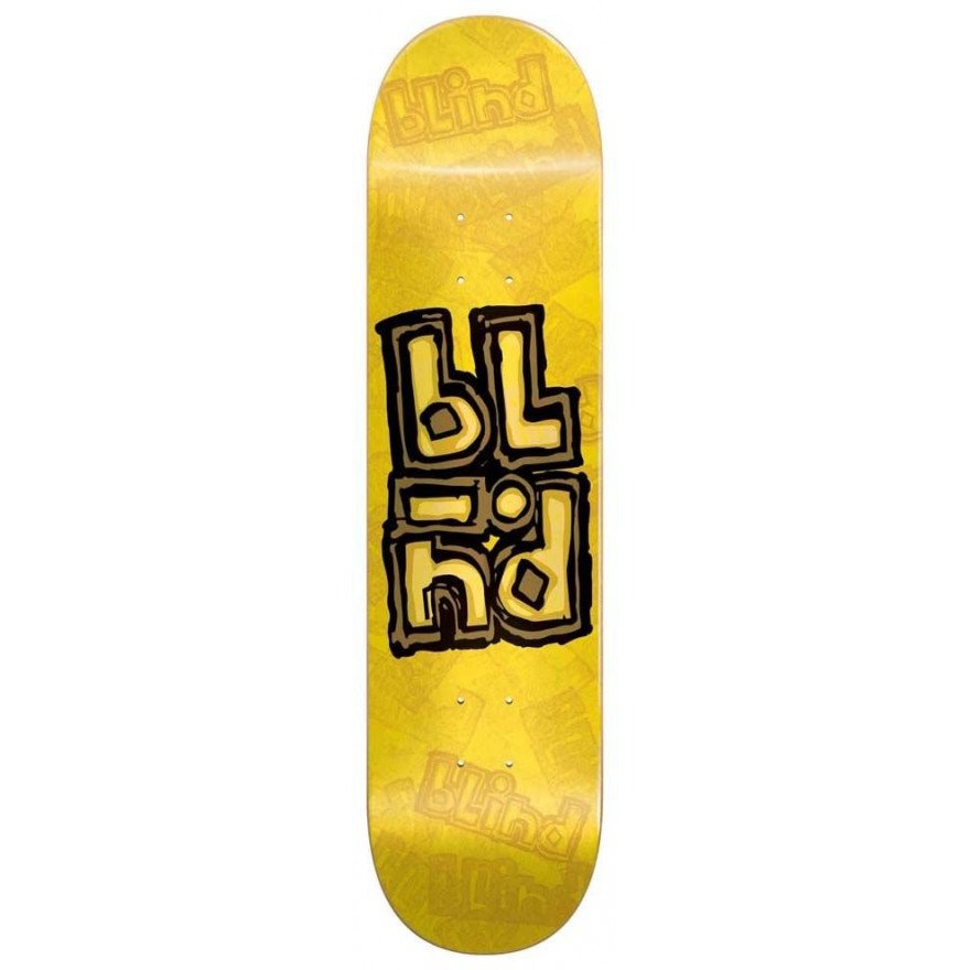Placa Skateboard Blind OG Stacked Stamp - Yellow