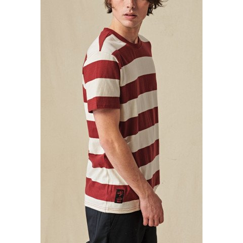 Tricou Barbati Globe Dion Agius Striped - Oxblood