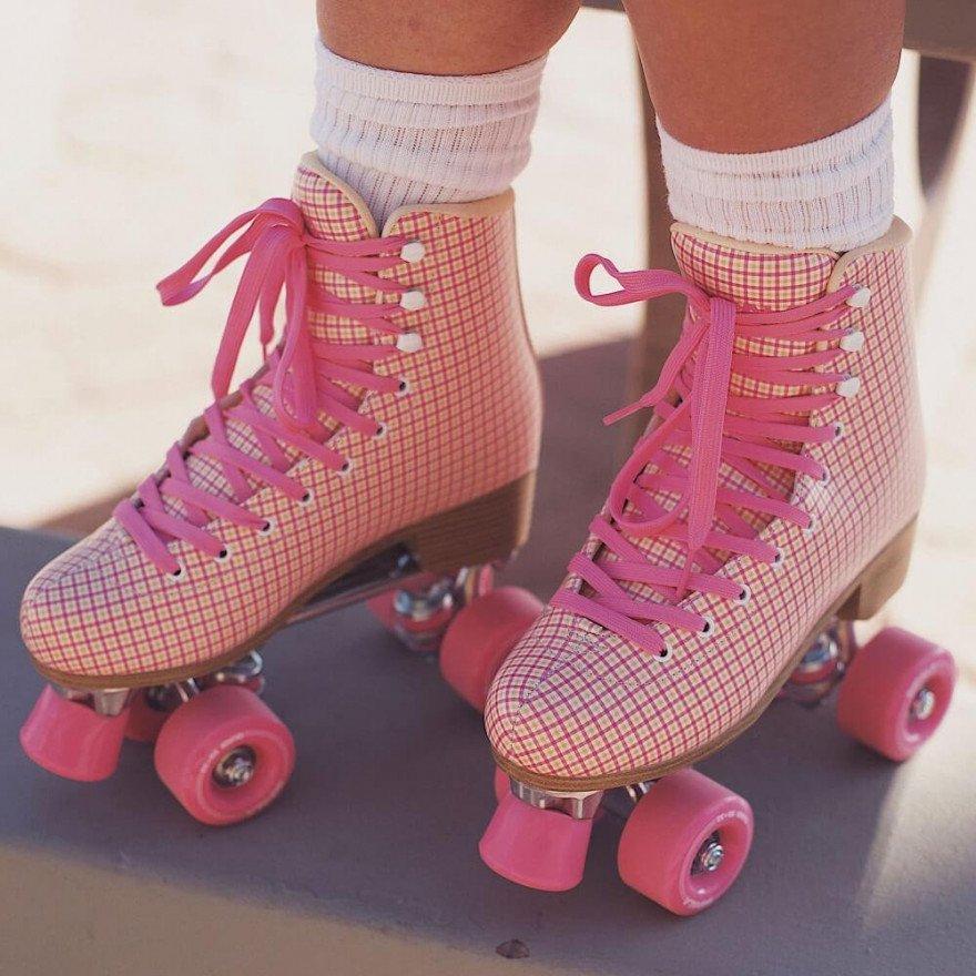 Role Impala Quad Skate - Pink Tartan