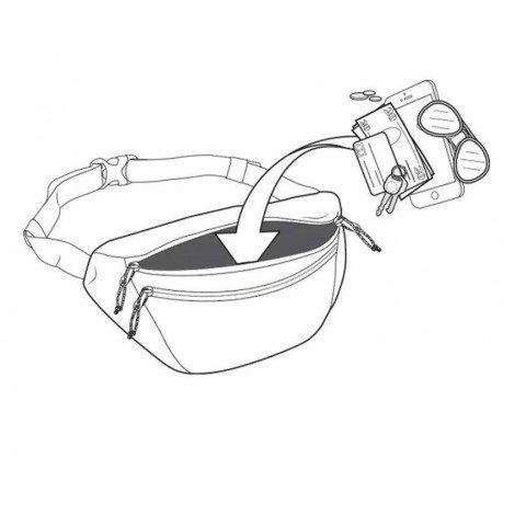 Borseta Burton Hip Pack - Lunar Gray Cordura