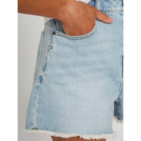 Pantaloni Scurti Dama Volcom Stoney High Rise - Sun Faded Indigo