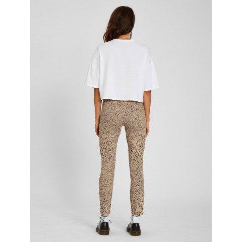 Pantaloni Dama Volcom Liberator High Rise - Animal Print