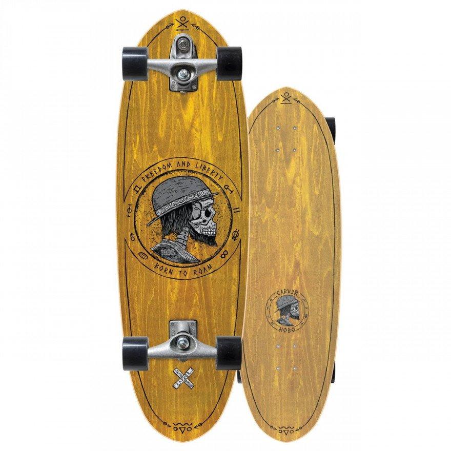 "Cruiser Carver Skateboards Carver C7 Raw 32.5"" Hobo"