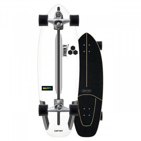 "Cruiser Carver Skateboards Carver CX Raw 30.75"" CI Happy"