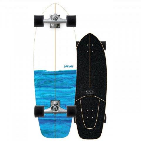 """Cruiser Carver Skateboards Carver CX Raw 31"""" Resin"""
