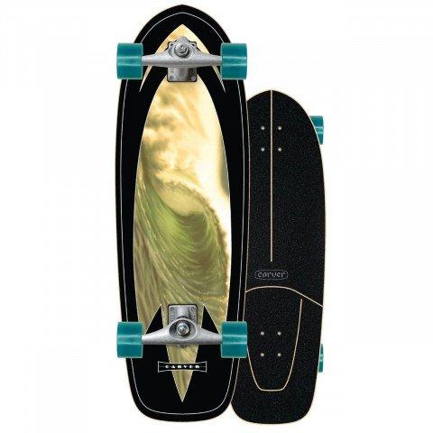 "Cruiser Carver Skateboards Carver CX Raw 31.25"" Super Slab"
