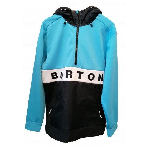 Hanorac Termal Barbati Burton Crown Waterproof Performance - Cyan True Black