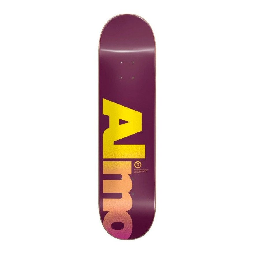 Placa Skateboard Almost Fall Off Logo Magenta