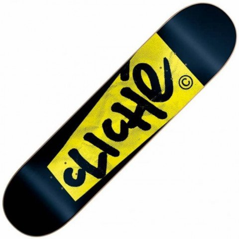 Placa Skateboard Cliche Paper Black
