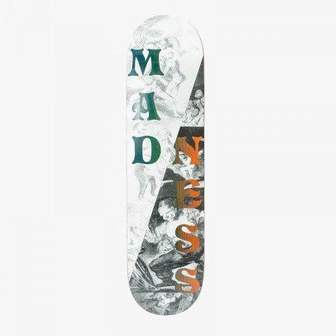 Placa Skateboard Madness Split Overlap Black/White