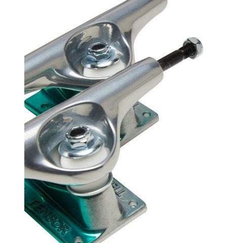 Axe Skateboard Tensor Alum Stencil Mirror Raw Green Fade