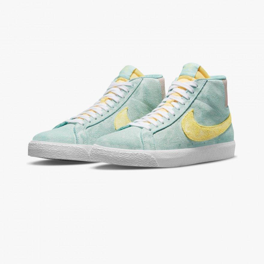 Sneakers Nike Blazer Mid PRM Zoom - Light Dew Zitron Green Glow Rose