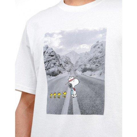 Tricou Barbati Element Peanuts Adventure - Off White