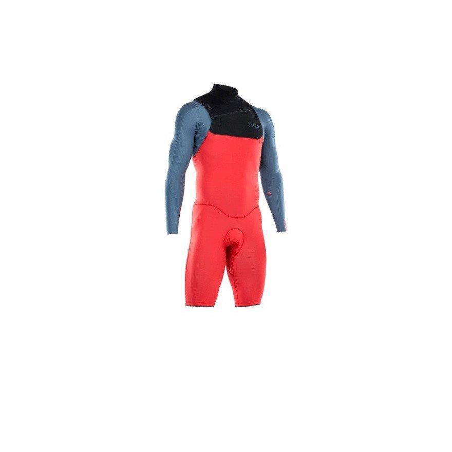 Costum Neopren Ion Seek Core Shorty LS 2/2 FZ DL - Red Steel Blue Black