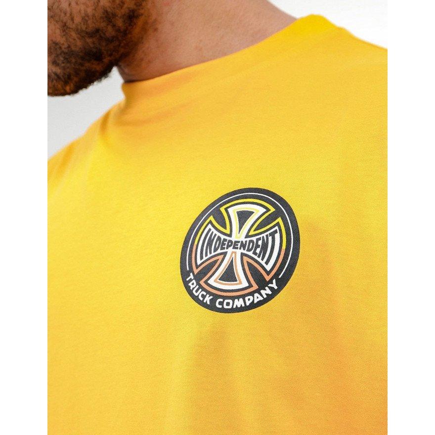 Tricou Barbati Independent Split Cross - Gold