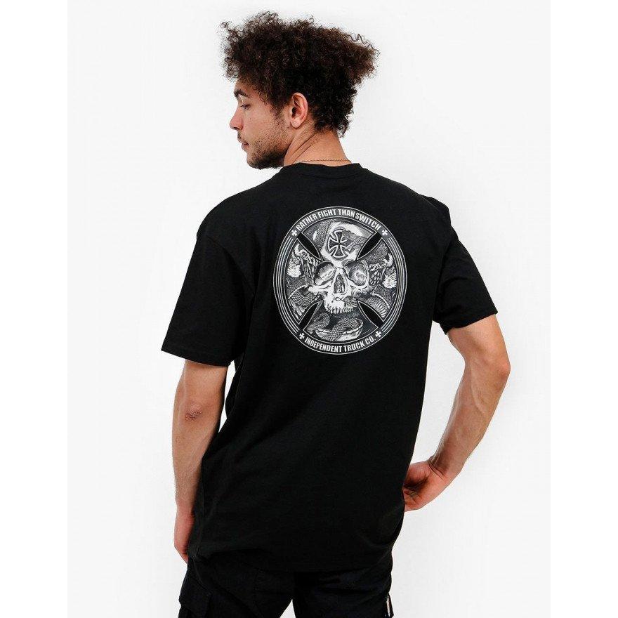 Tricou Barbati Independent FTS Skull - Black