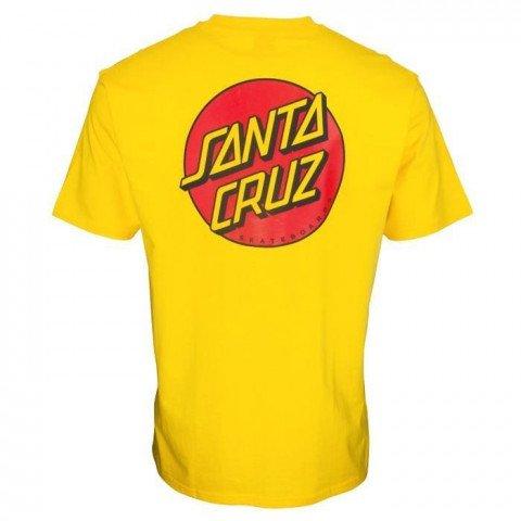 Tricou Barbati Santa Cruz Classic Dot Chest - Blazing Yellow