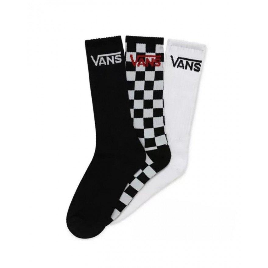 Sosete Vans Classic Crew - Black Checkerboard