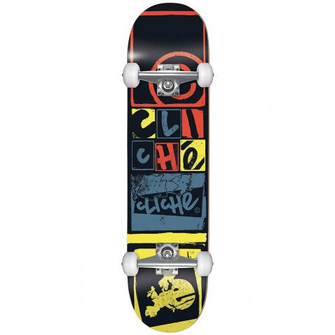Skateboard Complet Cliche Letter Press Black