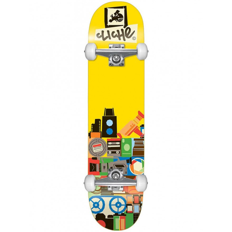 Skateboard Complet Cliche Document Yellow