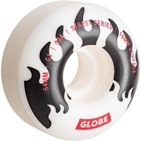 Roti Skateboard Globe G1 - White Black Flames