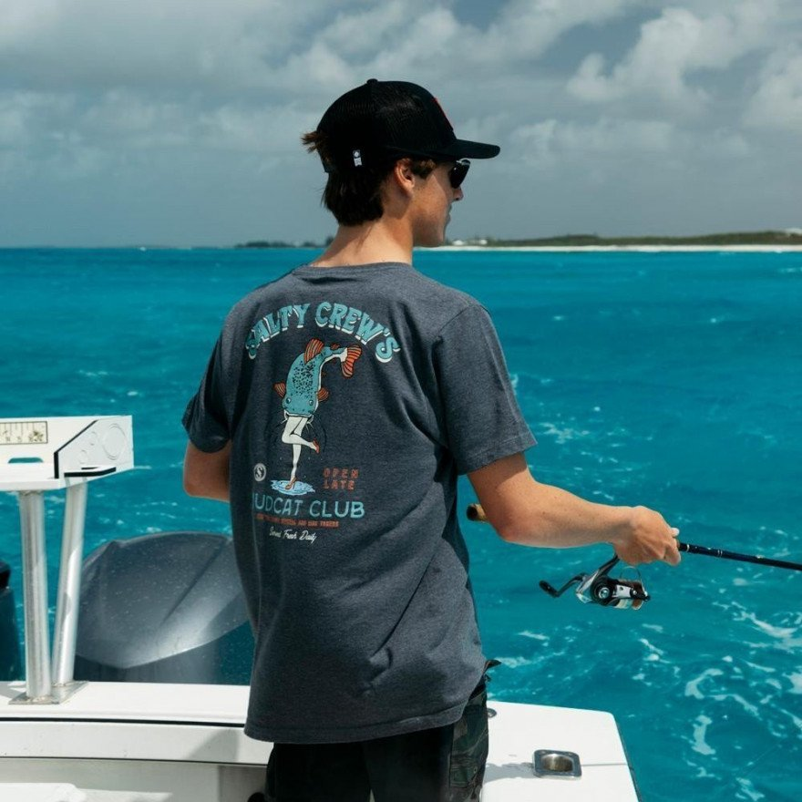 Tricou Barbati Salty Crew Mudcat Standard - Grey Heather