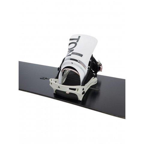 Legaturi Snowboard Barbati Burton Cartel X - White Gray Logo