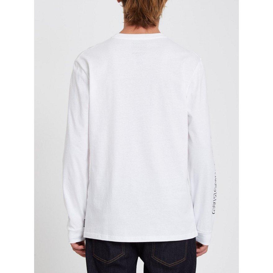 Tricou Barbati Volcom Pentagram Pizza LS - White
