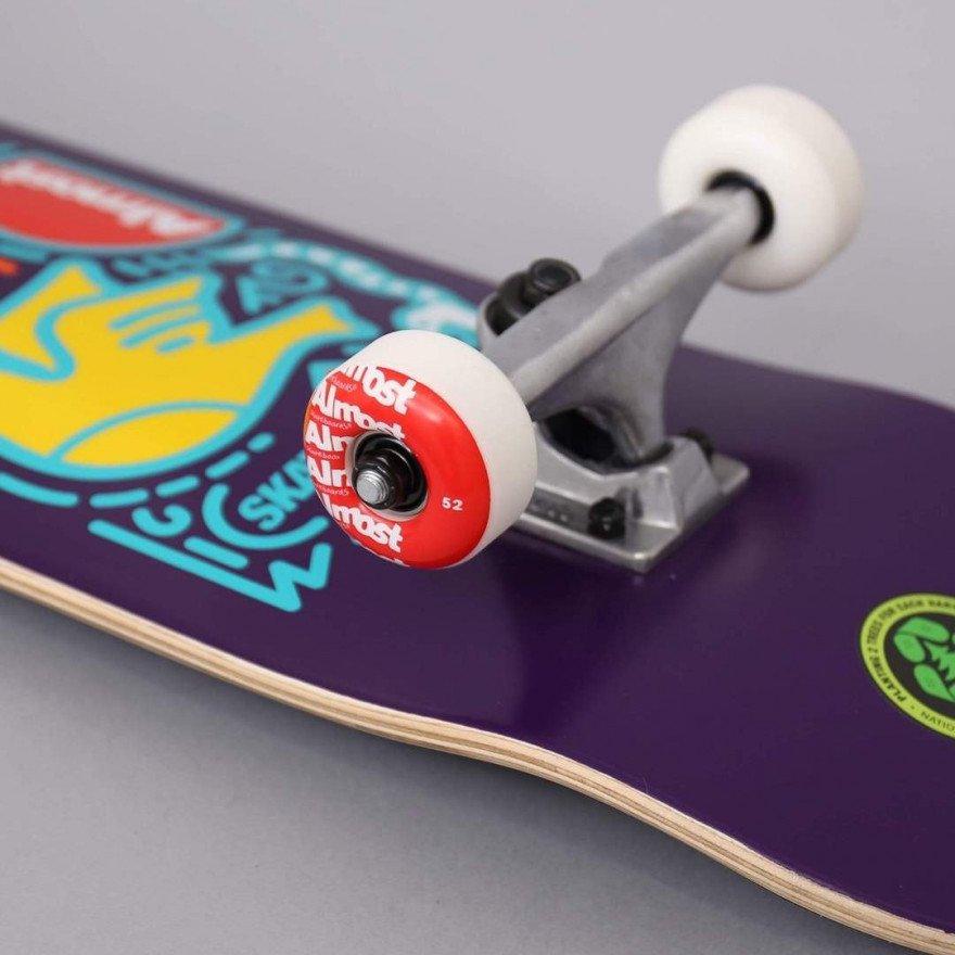 Skateboard Complet Almost Skateistan Sky Doodle Purple