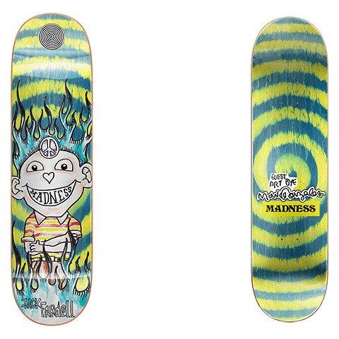 Placa Skateboard Madness Jack Gonz GREEN SWIRL