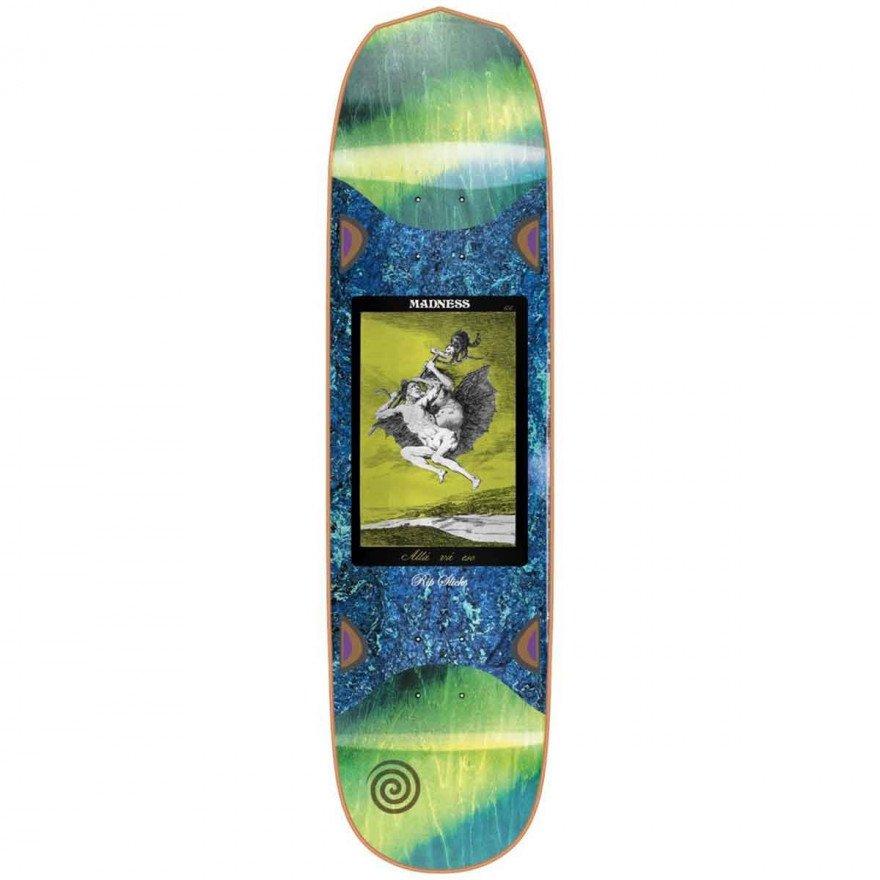 Placa Skateboard Madness Alla Slick Yellow Green