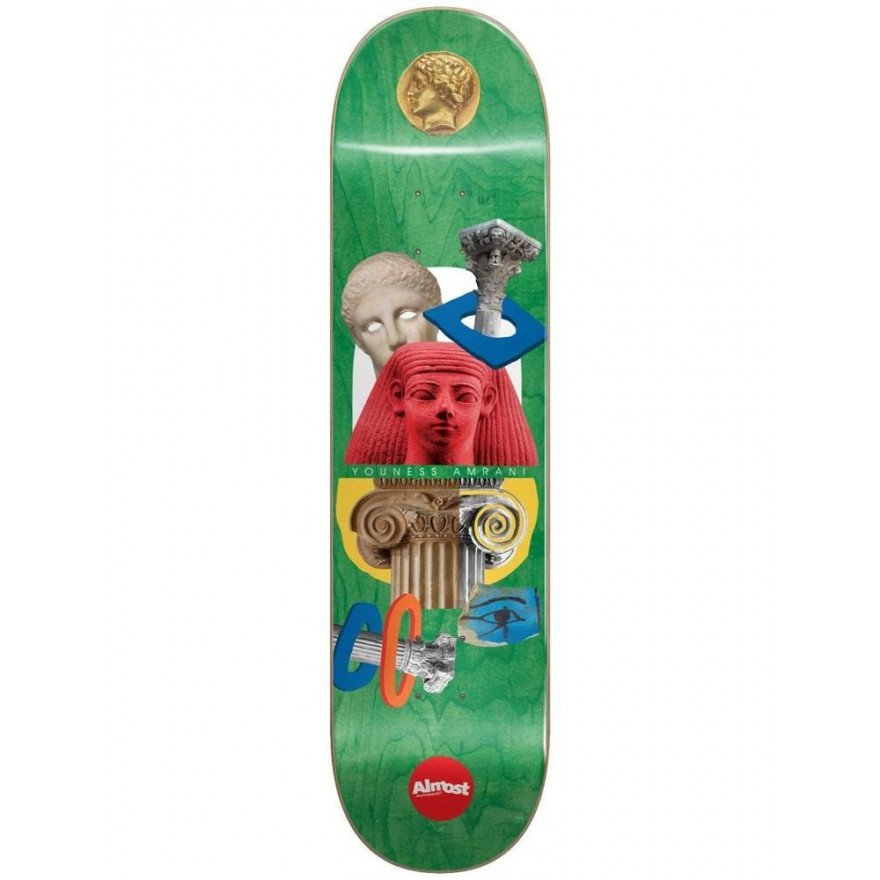 Placa Skateboard Almost Youness Relics YOUNESS/GREEN