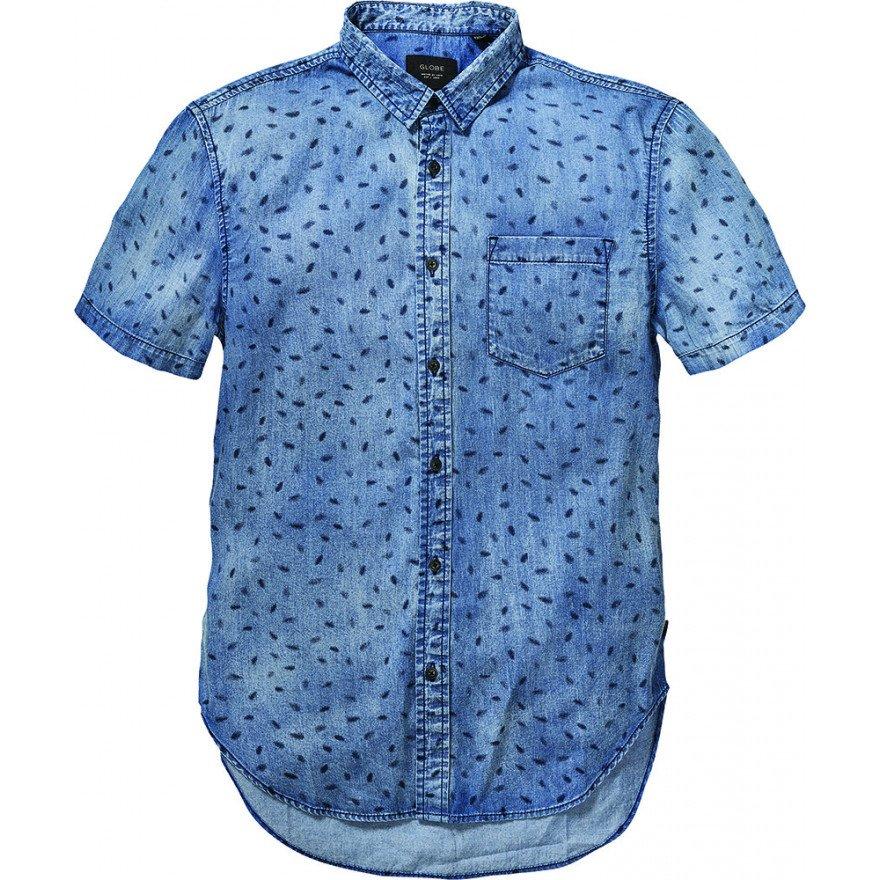 Camasa Barbati Globe Dion Piper - Smokey Blue